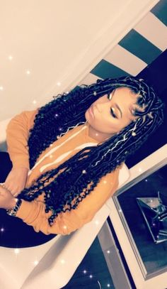 Celebrities and Their Hair Braids Black Girl Braids, Braids For Black Hair, Girls Braids, Faux Locs Hairstyles, My Hairstyle, Curly Hair Styles, Natural Hair Styles, Hair Styles With Weave, Hair Laid
