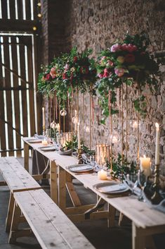 Free Spirited Woodland Bohemian Wedding Ideas at Camp Katur Whimsical Wonderland Weddings Wedding Table Flowers, Wedding Table Centerpieces, Wedding Flower Arrangements, Flower Centerpieces, Floral Wedding, Table Decorations, Trendy Wedding, Wedding Greenery, Wedding Tables