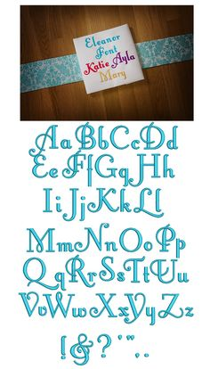 Eleanor Embroidery Font Designs by JuJu