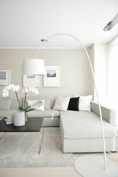 modernes wohnen - weiße orchideen - sehr schön aussehen