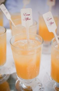 Customize your mixers for each signature drink during your both cocktail hour and reception with a sweet, romantic message of both yourself and the groom.