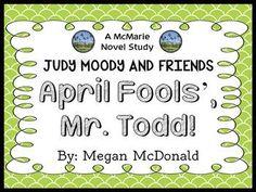 (Megan McDonald) Novel Study / Comprehension pages) Comprehension Strategies, Reading Comprehension, Judy Moody, April Fools Day, Common Core Standards, Booklet, Novels, Students, Study