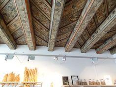 Beautiful stenciled ceiling in Gamla Stan,Stockholm, Sweden.