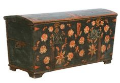 Antique Original Painted Swedish Trunk dated 1848 From Scandinavian Antiques1 500x348 The Romantic Baroque Style: Part 2 King Gustav Vasa