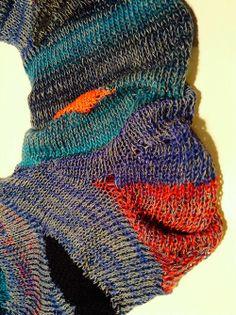 short row knitting Knitting Short Rows, Crochet Art, Fashion Art