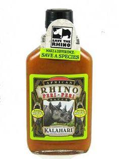 Traditional African Rhino Peri-Peri Extra Hot Sauce, 6.75oz. 3 BOTTLES!, ,