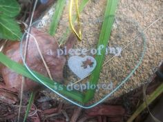 """Miltary glass christmas Ornament, Hand engraved , """"a piece of my heart is… Military Store, Military Wife, America's Army, Army Mom, Deployment Care Packages, Army Life, Glass Christmas Ornaments, Piece Of Me, Hand Engraving"""