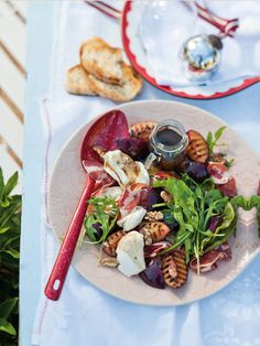 Yummy Grilled Plum, Coppa And Rocket Salad