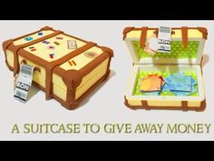 DIY a suitcase to give away money, how to make a shirt with a bill. Easy craft - YouTube