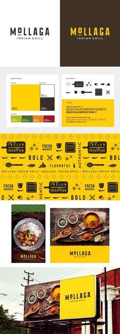 restaurant branding identity / mollaga / food / re - Resturant Branding, Menu Restaurant, Bar Restaurant Design, Restaurant Identity, Stationary Branding, Food Branding, Logo Food, Brand Identity Design, Graphic Design Branding