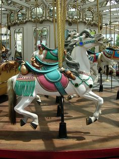 Charles Looff Carousel by caitlinburke, via Flickr