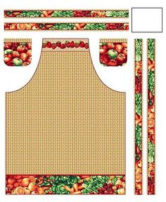 "Fabri-Quilt Farmer John's Market - Apron Panel with fruit and vegetables 100% cotton canvas fabric by the PANEL 36""x44"" (J75) from Angelfabric on Etsy Studio"