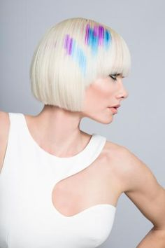 How-To Video: Pixelated Equalizer Design with Pravana Locked-In | Modern Salon
