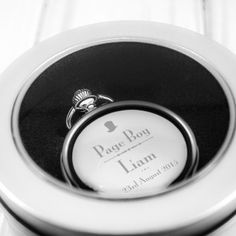Engraved Pocket Watch - Page Boy Top Hat