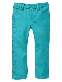 Embellished jewel box skinny jeans | Gap...for first day of school ;)