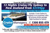 12 Nights Cruise/Fly Sydney to New Zealand* from Cruise Managers