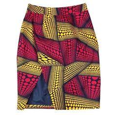 Faux Wrap Skirt / Ankara / African Print / Wax Print