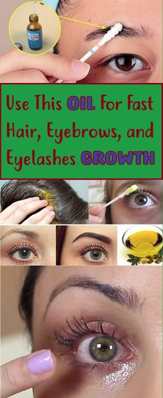 Use This Oil For Fast Hair, Eyebrows, and Eyelashes Growth -