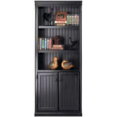 "kathy ireland Home by Martin Furniture Southampton Onyx Lower Door 73"" Bookcase | Wayfair"