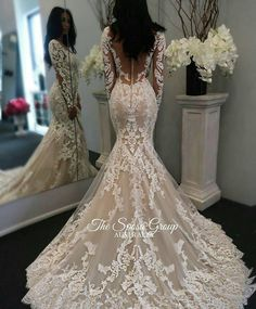 New Illusion Long Sleeves Lace Mermaid Wedding Dresses Tulle Applique Court Wedd. - - New Illusion Long Sleeves Lace Mermaid Wedding Dresses Tulle Applique Court Wedding Bridal Gowns With Buttons Source by Long Sleeve Wedding, Long Wedding Dresses, Bridal Dresses, Prom Dresses, Evening Dresses, Bridesmaid Dresses, Lace Wedding Dress With Sleeves, Court Dresses, Long Sleave Wedding Dress