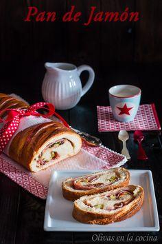 Pan de Jamón, una deliciosa receta a tener en cuenta para las próximas Navidades. Olivas en la cocina Fondant, Kitchenaid, Cupcake Cakes, French Toast, Yummy Food, Bread, Pains, Breakfast, Desserts