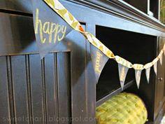 Sweet Charli: Interchangeable Chalkboard Pennant Banner