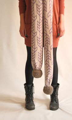 pompon scarf and awesome boots