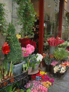 Florist in Ile St. Louis, Paris, France