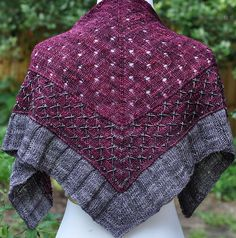Love this three part, two color blending shawl pattern Ravelry: Fabergé pattern by Laura Aylor