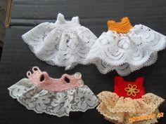 Háčkované šatičky pro panenky
