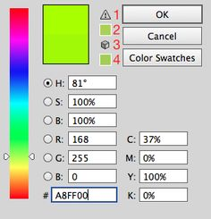 Color picker - colors look dull - RGB and CMYK