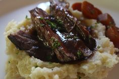 Red Wine Braised Beef  Fall Dinner | Fall | Red Wine | Beef | Season and Serve Blog Roast Recipe With Red Wine, Roast Recipes, Fall Recipes, Beef Blade Roast, Braised Beef, Fall Dinner, Casseroles, Om, Easy Meals