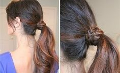 Braided Wrap-Around Ponytail