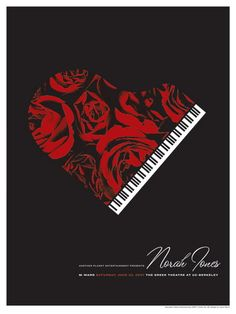 norah jones gig poster by jason munn (the small stakes)
