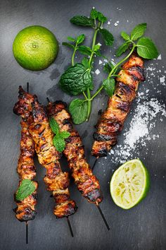 Kabob Recipes, Grilling Recipes, Grilled Fruit, Healthy Snacks, Healthy Recipes, Salty Foods, Summer Recipes, Asian Recipes, Food Inspiration
