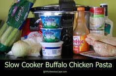 Slow Cooker Buffalo Chicken Pasta