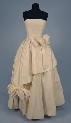 ~Elizabeth Arden Silk Ballgown, 1950s~