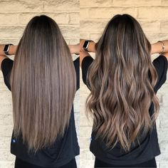 Los Angeles Hairstylist/color on Instagr… - Top Of The World Brown Hair Balayage, Hair Highlights, Ashy Brown Hair, Dark Balayage, Balayage Straight, Truss Hair, Light Brown Hair, Brunette Hair, Baylage Brunette