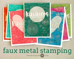 Faux Metallic Stamping + Blog Hop + Giveaway