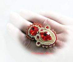 bague avec soutache-ring met soutache