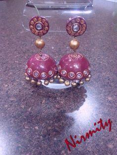 Jhumka / Chandelier earrings  Terracotta jewelry  party wear