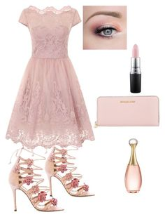"""Bez naslova #9"" by sabypolivore ❤ liked on Polyvore featuring Chi Chi, Marchesa, Michael Kors, Christian Dior and MAC Cosmetics"