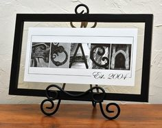 Unique Wedding Gift Name Frame Alphabet Letter by artofwhimsyphoto