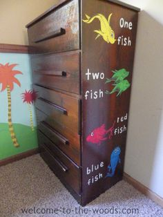Dr. Seuss themed dresser