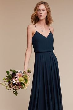 Navy Inesse Dress | BHLDN