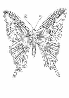 Detailed butterfly Coloring Pages Best Of Kittens and butterflies Coloring Book by Katerina Svozilova Animal Coloring Pages, Coloring Pages To Print, Coloring Book Pages, Printable Coloring Pages, Coloring Pages For Kids, Butterfly Coloring Page, Butterfly Drawing, Valentines Day Coloring Page, Diy Y Manualidades