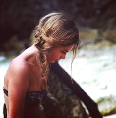 I want to be able to messy braid my hair like this.