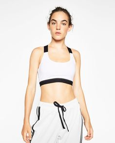 TOP WITH CROSSOVER BACK - View all-T-SHIRTS-WOMAN   ZARA United States