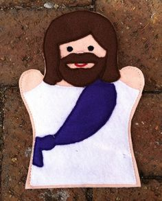Jesus Finger Puppet to Color | Jesus Jesus and His Disciples Hand Puppet by ThatsSewPersonal