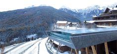 SKY POOL im Alpin Panorama Hotel Hubertus****S in Südtirol.   #skypool #sky #pool #südtirol #italy #winter #pool #wellness #spa #leadingsparesorts #snow #nature #landscape #new #swimming